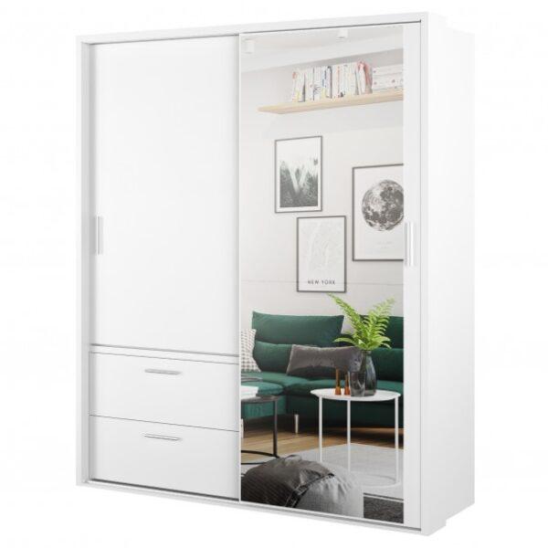 Šatní skříň CASIA bílá