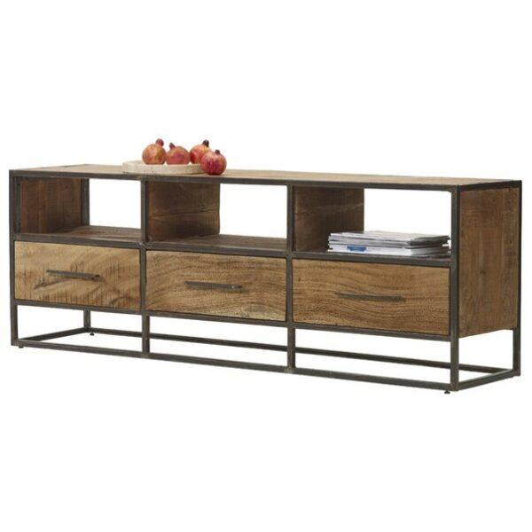 TV stolek SPRING akácie/kov
